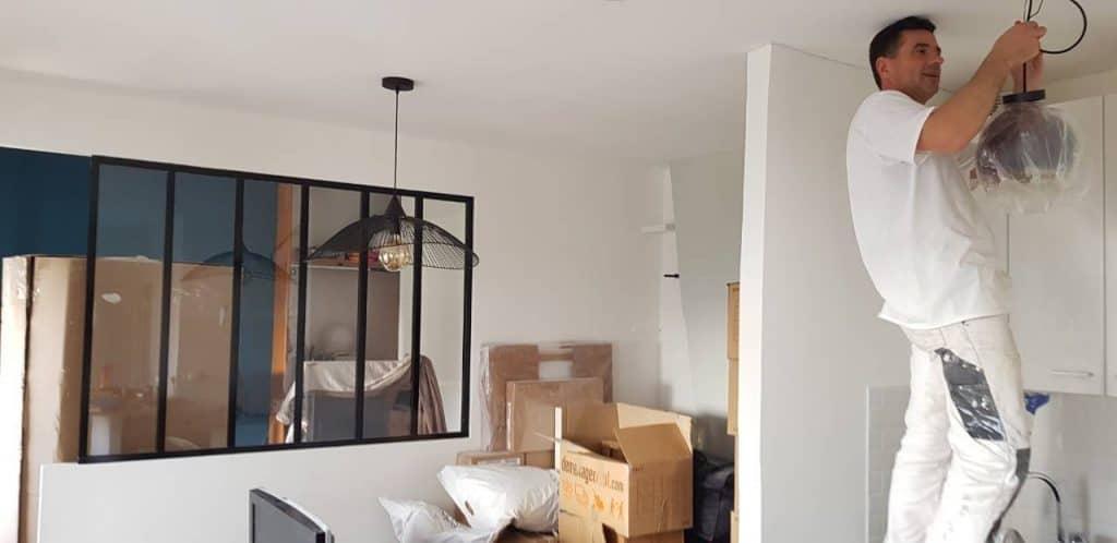 rénovation appartement installation verrière sur mesure